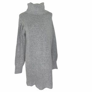 GUESS Women's Light Gray Long Sweater Dress Cowl Neck Size X-Large-Pre-Owned EUC